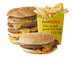 bad liver diet food